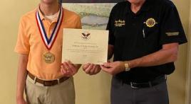 President's Volunteer Service Award presented to Son