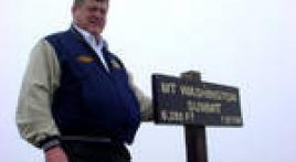 National Commander Clarence Hill atop Mount Washington