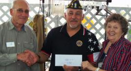 Dover TN Good Samaritan Center Receives Donation from Dover Post 72 on November 18, 2015.