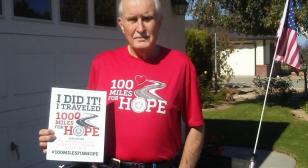 Veteran bicycle rider completes 1,000 Miles for Hope on Veterans Day (#100MILESFORHOPE)