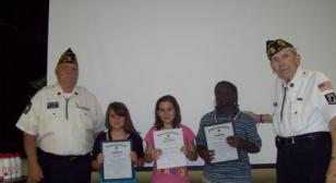 Post 284 presents school medals