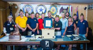 District 22 (CA) recognizes 4 Silver Brigades from Post 416 at department convention