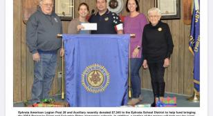 American Legion Post 28 (Ephrata, Wash.) donates to school district
