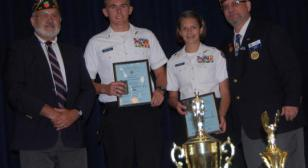 American Legion Post #155 Awards JROTC Medals to Cadets