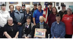 America's oldest living Medal of Honor recipient celebrates 96th birthday with American Legion Post 4 and Auxiliary unit in Bend, Ore.
