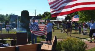 Gladstone squadron retires over 1,000 flags