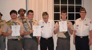 Bruckenthal-Cann Post 385 honors Eagle Scouts