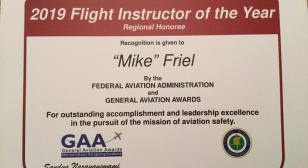 Legionnaire receives FAA Flight Instructor of the Year Award for Eastern Region