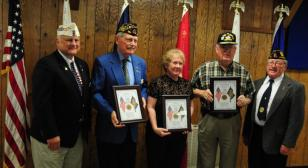 Missouri post honors three 70-year members