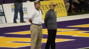 Veteran recognition at the Iowa High School Class 3A Football Semifinal Playoffs