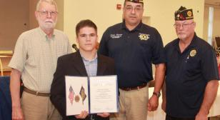 Law Enforcement Certificate of Commendation Award to Luke Bender