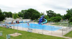 POST DONATES MONEY FOR PURCHASE OF WATER SLIDE AT VILLAGE POOL