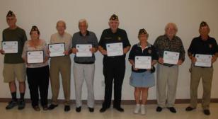 Local Veterans Receive Certificate of Appreciation