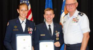 AFJROTC cadets receive American Legion medals