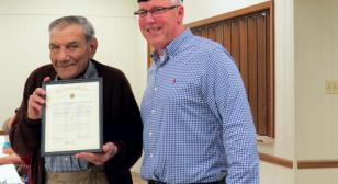 70-Year American Legion Membership Certificate awarded to Marcantel