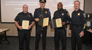 Georgia post honors Milwaukee police officers