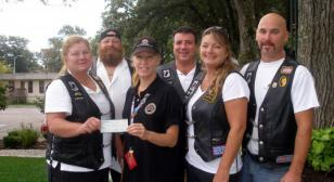 American Legion Riders Chapter 17 Post 70 Presents Check to Fisher House Boston