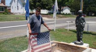 American Legion Prairie Du Pont Post 485 U.S. flag retirement
