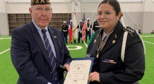 American Legion Post 178 presents awards at Lake Highlands JROTC award ceremony