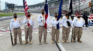 American Legion Post 178 presents colors At Texas Motor Speedway INDYCAR race