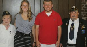 American Legion Post & Unit 3 present scholarships