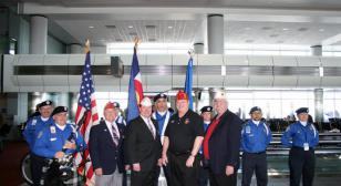 April 2010 The American Legion's National Commander  Got Royal Welcomed At DIA