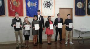 Legion Post 171 recognizes Americanism and Government winners from three Westerville high schools
