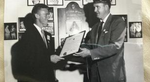 I was selected as the 1954 American Legion Player of the Year, the fifth guy to be selected for this honor