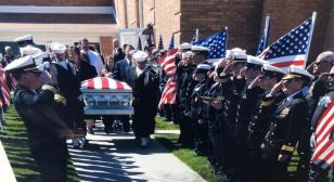 Military funeral increases flag appreciation