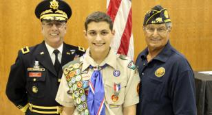 Post 45 recognizes Eagle Scout