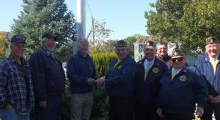 Fort Bridger (Wyo.) Post 36 presentation to homeless veterans