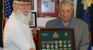 World War II veteran finally gets his medals