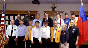Republic of China veterans visit Texas Legion post