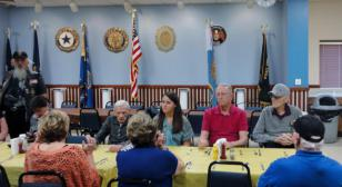 Post 186 hosts Brightwater Living Center veterans