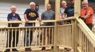 Home repair project for young disabled veteran first responder