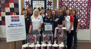 Post 1214 supports Quilts of Valor program for entire year