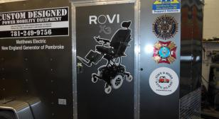 Custom-designed mobility equipment for veterans