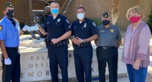 Palm Springs Post 519 color guard supports local police/Shop With a Cop