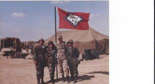 Four Womack children in Desert Storm