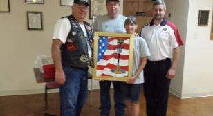 Gretna, Neb., American Legion Riders raffle painting