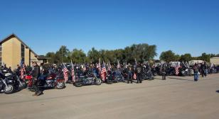 Legion Riders escort WWII Navy veteran's remains home