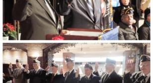 American Legion National Commander Harold Dale Barnett installs and swears in new Post 38 officers