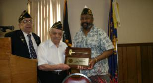 Post 572, Parma, Ohio, honors first commander 1945-1946