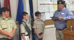 Youth recognized for assistance to Post 66
