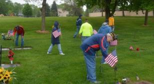 Daniel R. Olsen Post 594 visits local cemeteries