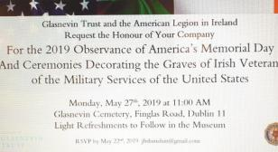 United States Memorial Day Ceremony at Glasnevin Cemetery, Dublin, Ireland