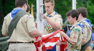 Eagle Scout Veterans Memorial dedication and Flag Day ceremony