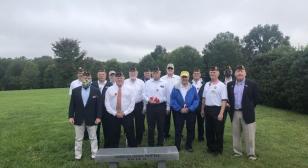 Post 354 memorial bench dedication