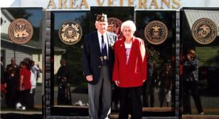 Loretto post dedicates monument with star-spangled ceremony