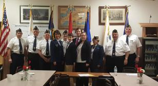 Post 547, Monroeville, Ohio, holds 5th District Oratorical Contest